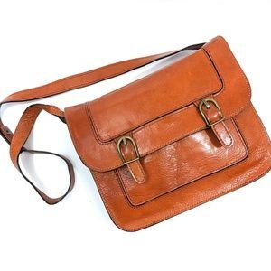 Marforio Vintage Italian Cognac Leather Bag